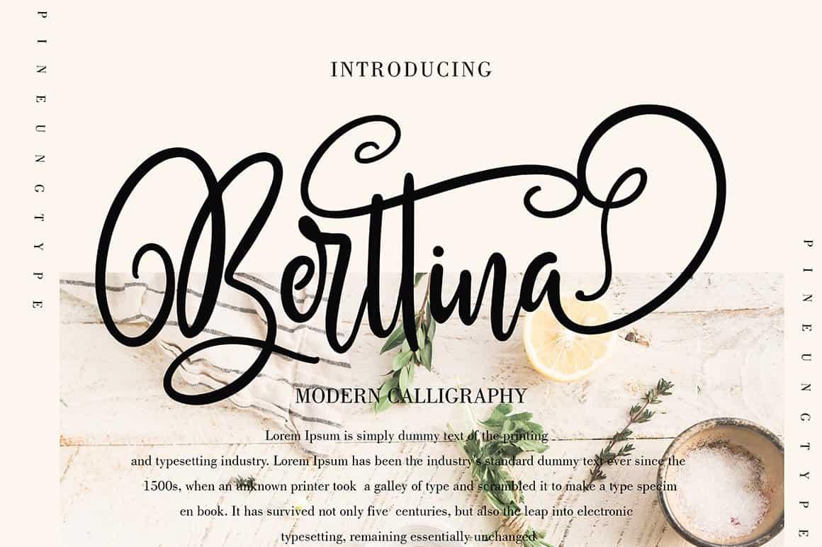 Download Berttina font (typeface)