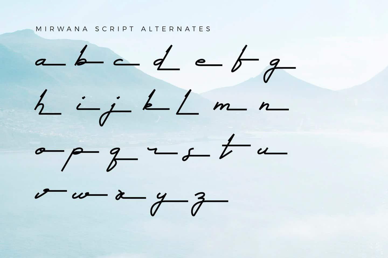 Download Mirwana font (typeface)