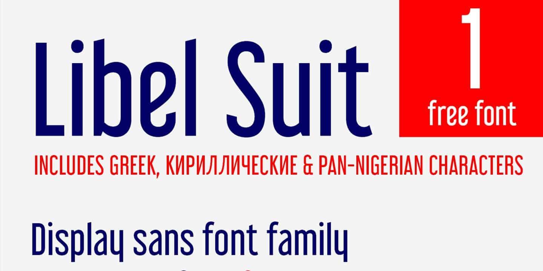 Download Libel Suit Regular font (typeface)