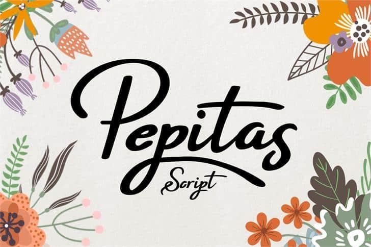 Download Pepitas font (typeface)