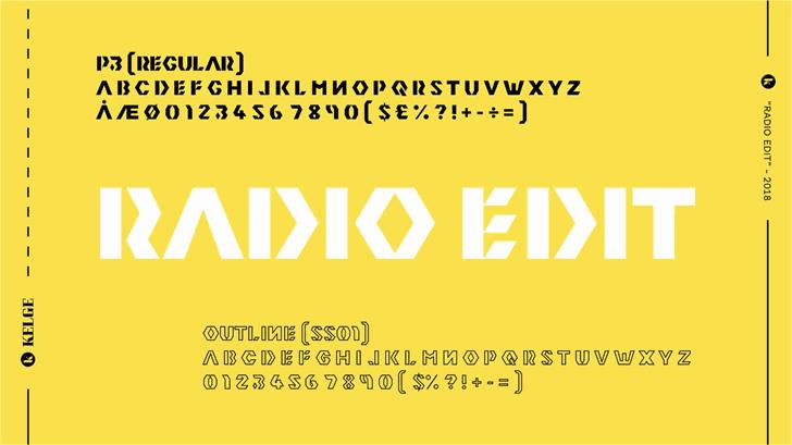 Radio Edit шрифт скачать бесплатно
