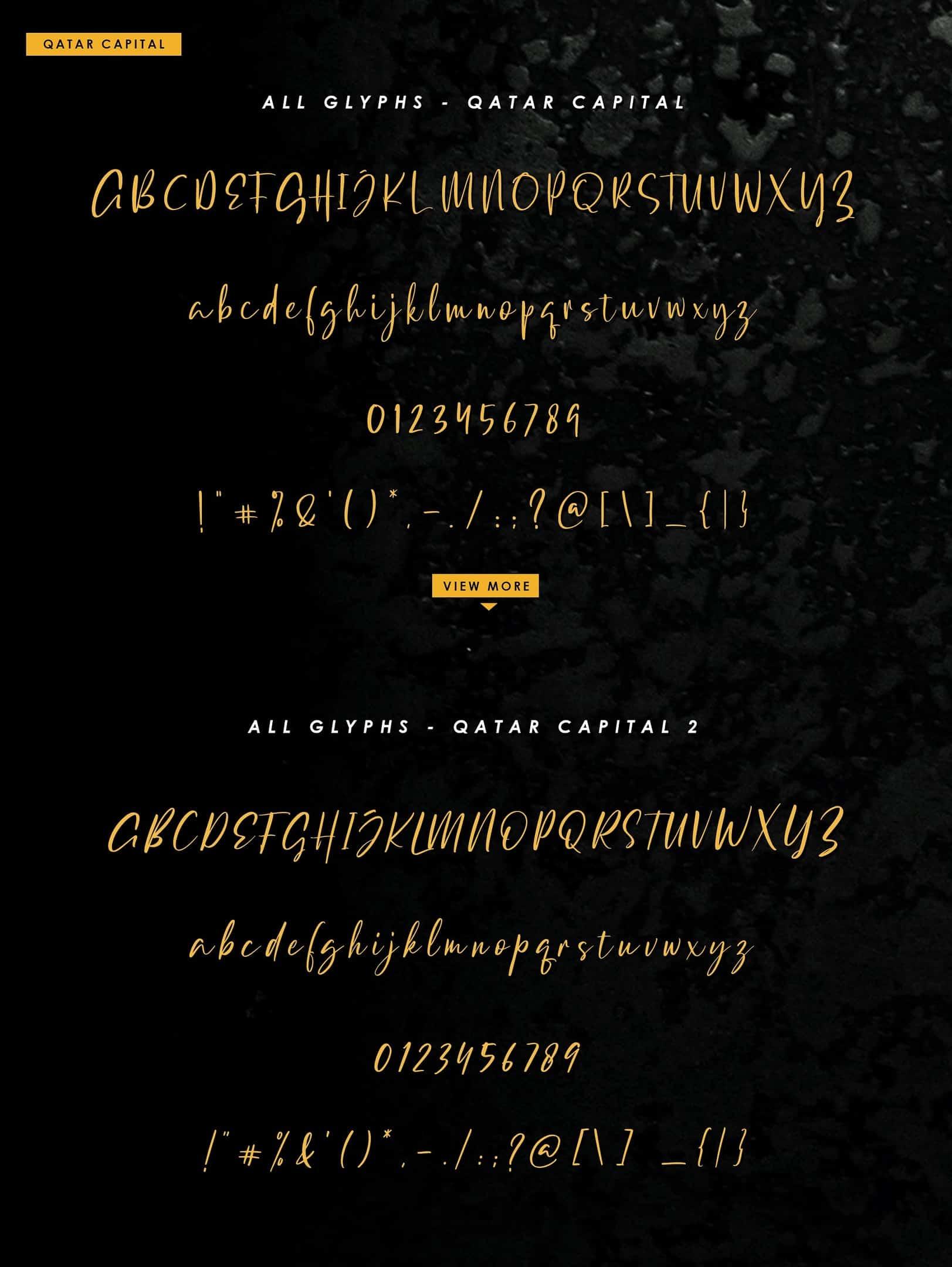 Download Qatar Capital font (typeface)