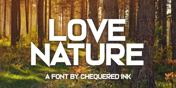 Download Love Nature font (typeface)