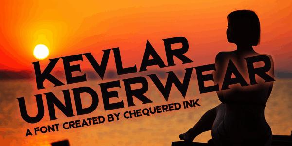 Kevlar Underwear шрифт скачать бесплатно