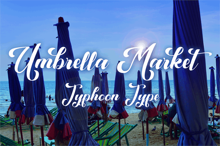Download Umbrella Market font (typeface)