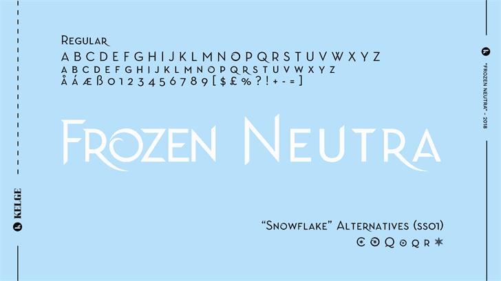 Frozen Neutra шрифт скачать бесплатно