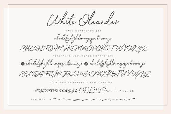 Download White Oleande font (typeface)