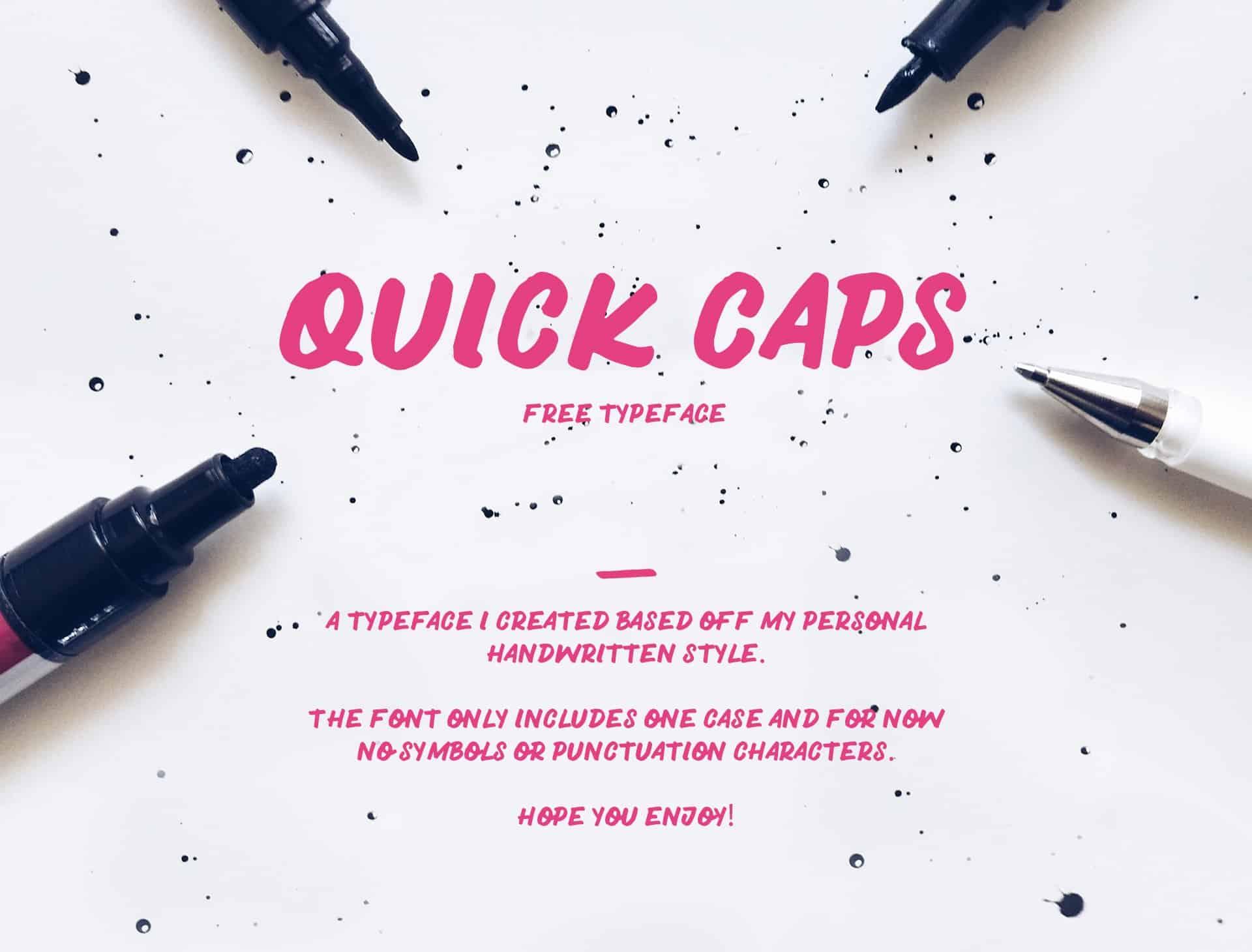 Download Quick Caps font (typeface)