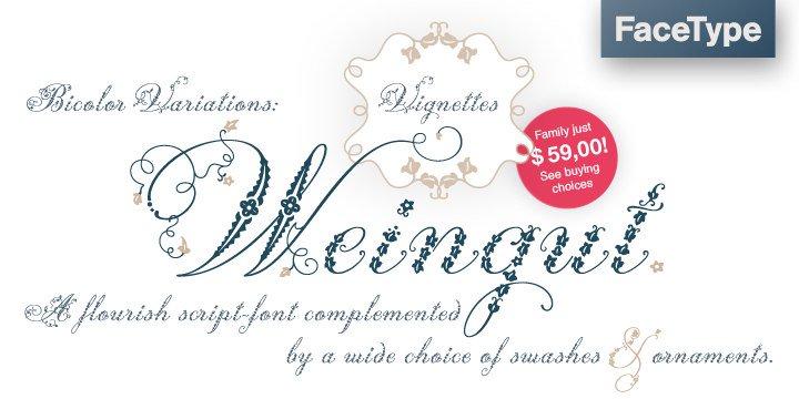 Download Weingut font (typeface)