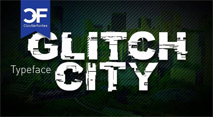 Download Glitch City font (typeface)