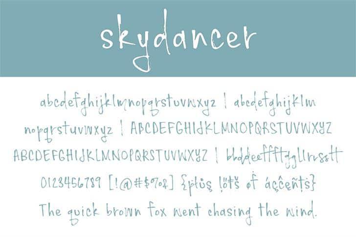 Skydancer шрифт скачать бесплатно