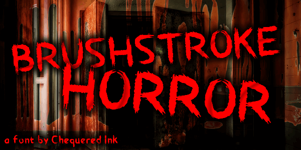 Download Brushstroke Horror font (typeface)