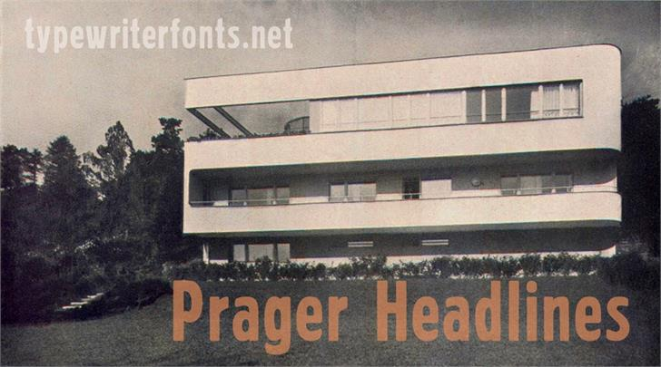 Download Prager Headlines font (typeface)