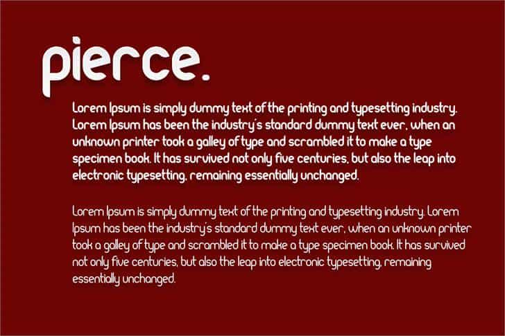 Download Pierce font (typeface)