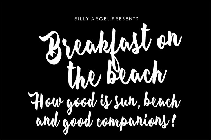 Breakfast on the beach шрифт скачать бесплатно