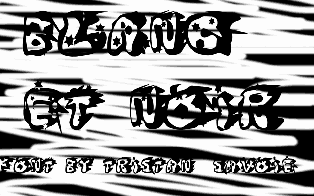 Download Blanc et Noir font (typeface)