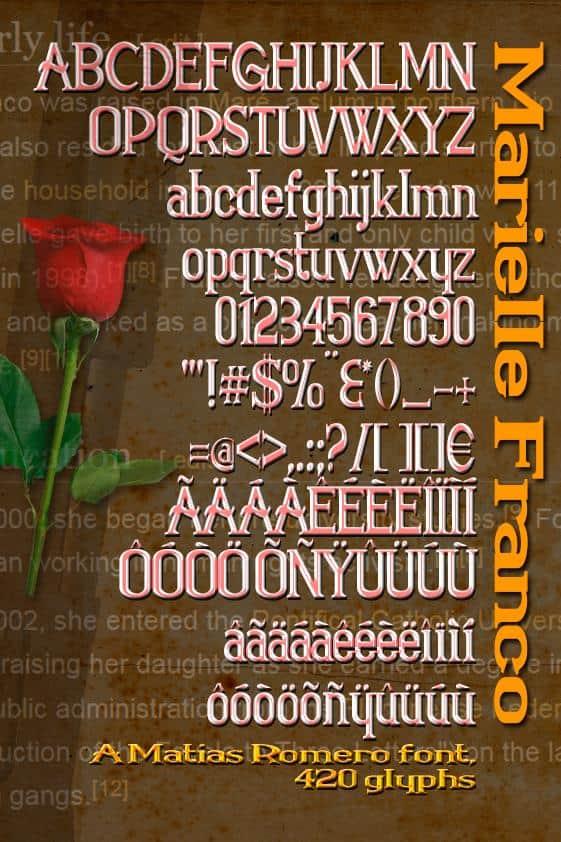 Download Marielle Franco font (typeface)