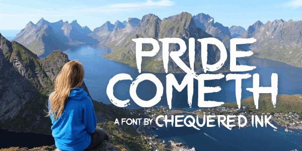 Download Pride Cometh font (typeface)