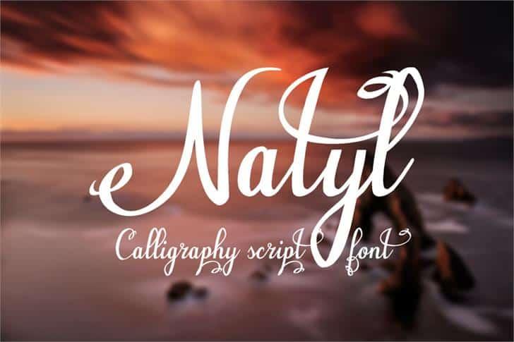 Natyl шрифт скачать бесплатно
