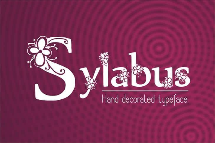 Download Sylabus font (typeface)
