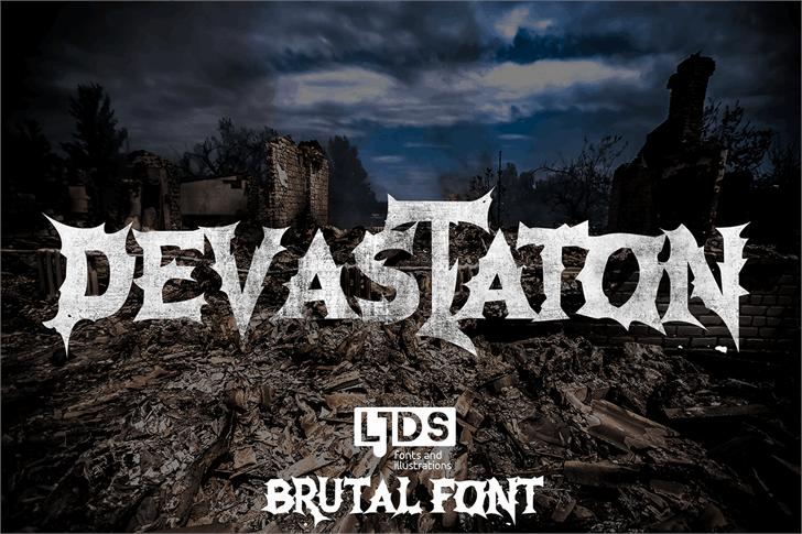 Devastation шрифт скачать бесплатно