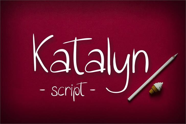 Download Katalyn font (typeface)