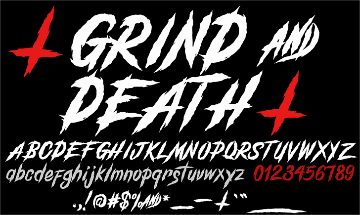 Download Grind And Death font (typeface)