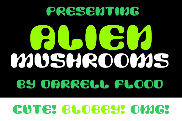 Download Alien Mushrooms font (typeface)