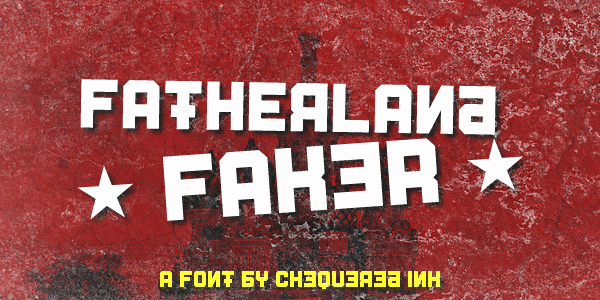 Download Fatherland font (typeface)