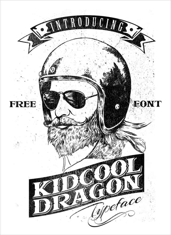 Download KIDCOOL DRAGON font (typeface)