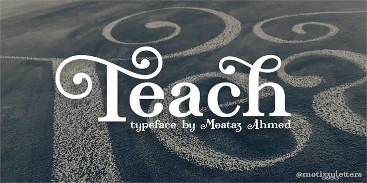 Download Teach font (typeface)