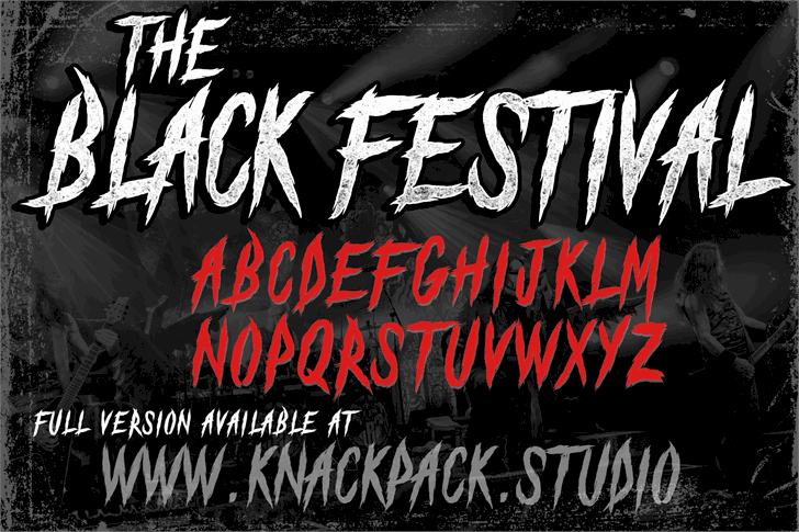 Download The Black Festival font (typeface)