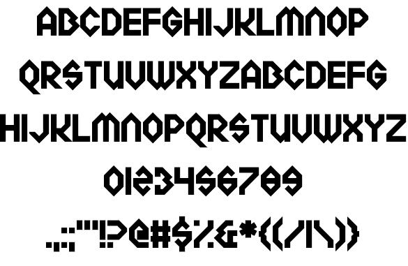 Download Meckablecka font (typeface)