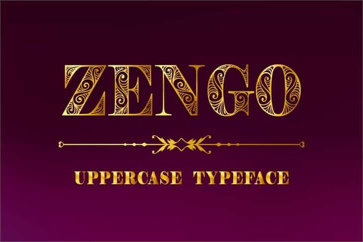 Zengo шрифт скачать бесплатно