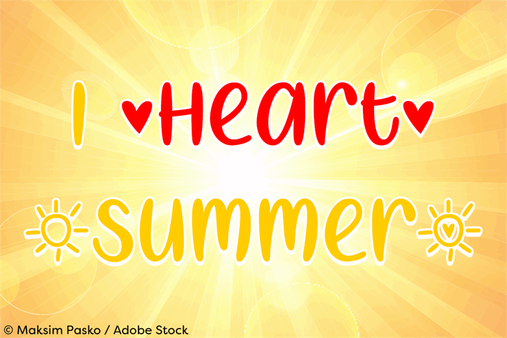 Download I Heart Summer font (typeface)