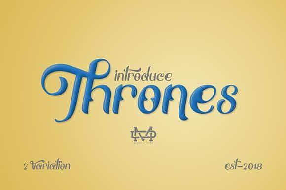 Download Thrones font (typeface)