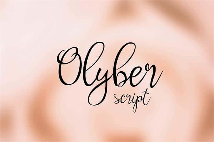 Download Olyber font (typeface)