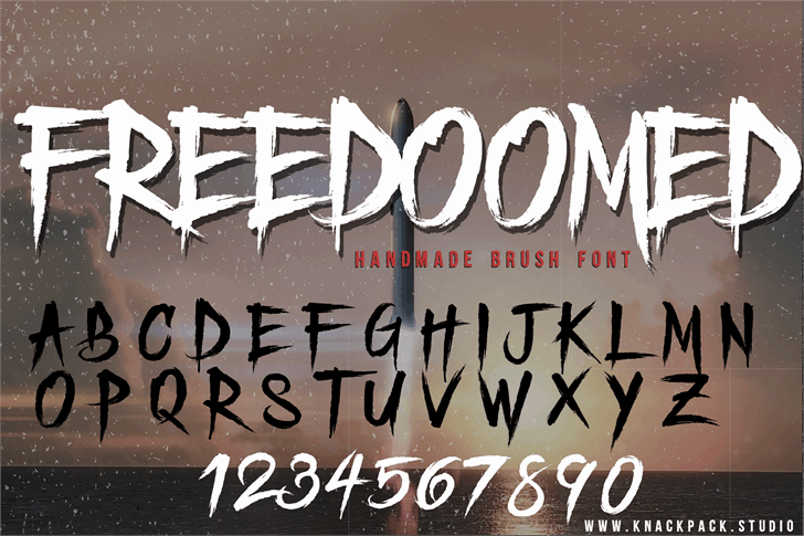 Download Freedoomed font (typeface)