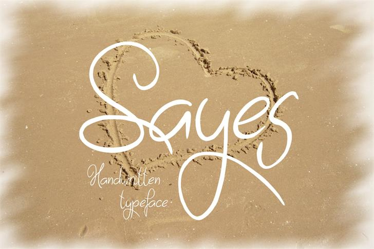 Download Sayes font (typeface)