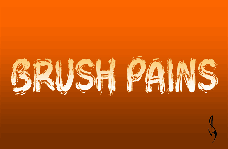 Download Brush Pains font (typeface)