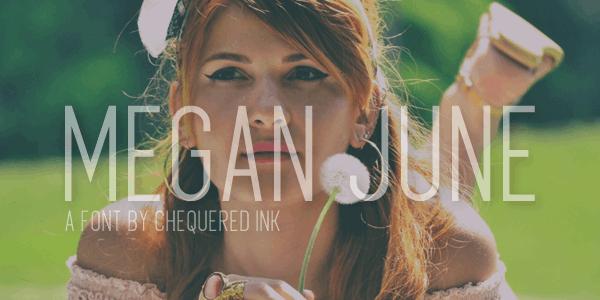 Download Megan June font (typeface)