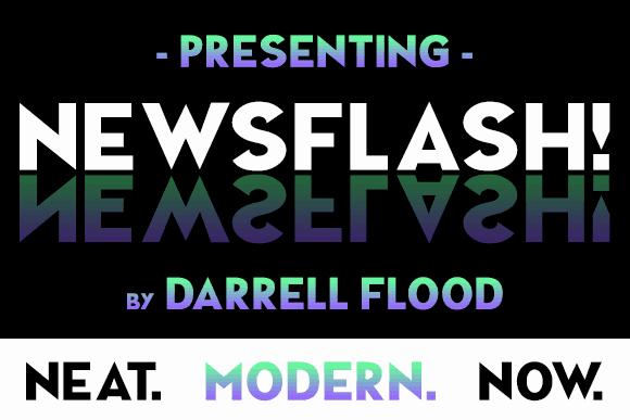 NEWSFLASH шрифт скачать бесплатно