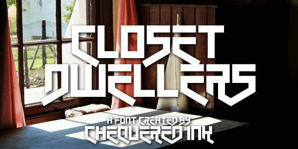 Download Closet Dwellers font (typeface)