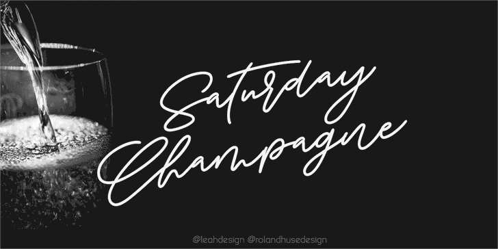 Download Saturday Champagne font (typeface)