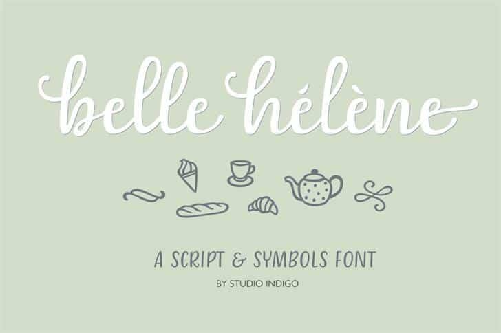 Download Belle-Helene font (typeface)