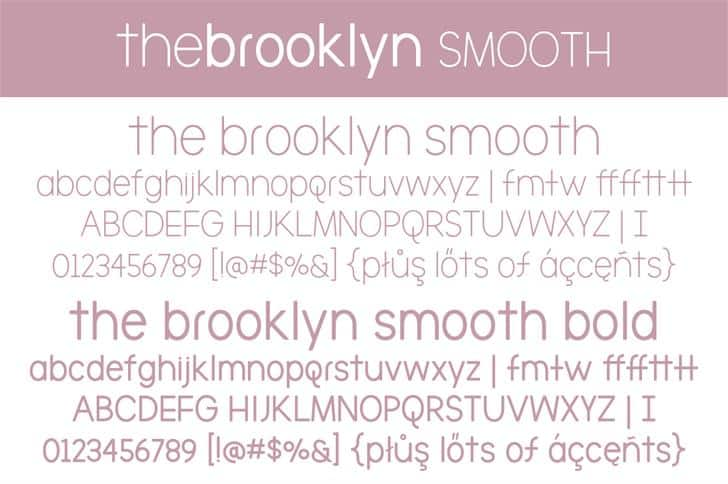 Download The Brooklyn Smooth font (typeface)