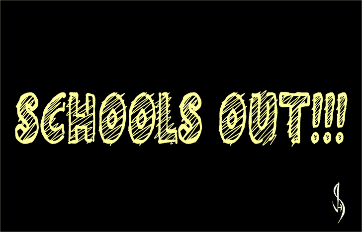 Download Schools Out!!! font (typeface)