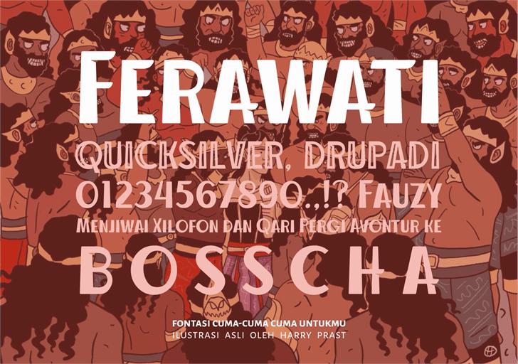 Ferawati шрифт скачать бесплатно
