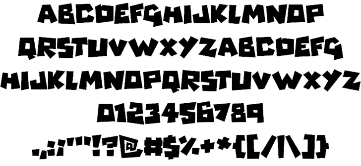 Download Monsterz font (typeface)