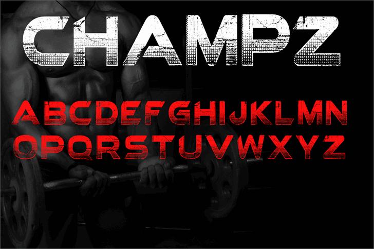 Champz шрифт скачать бесплатно